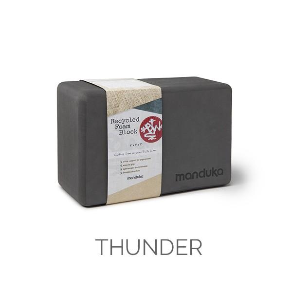 Manduka Recycled Foam Block Thunder
