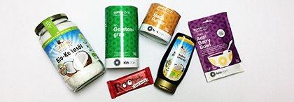 Chia-Samen, Gerstengras, Kokosöl - Bio und gesund