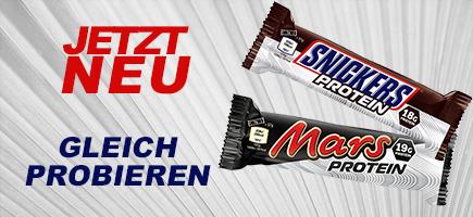 Mars und Snickers als Proteinriegel