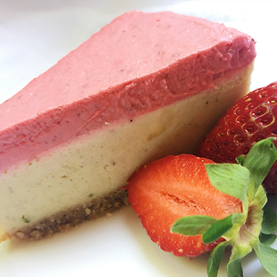 Vegan Strawberry Paleo Cheesecake